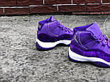 "Женские кроссовки Nike Air Jordan 11 ""Purple Velvet"" (Реплика ААА+), фото 2"
