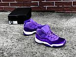 "Женские кроссовки Nike Air Jordan 11 ""Purple Velvet"" (Реплика ААА+), фото 4"