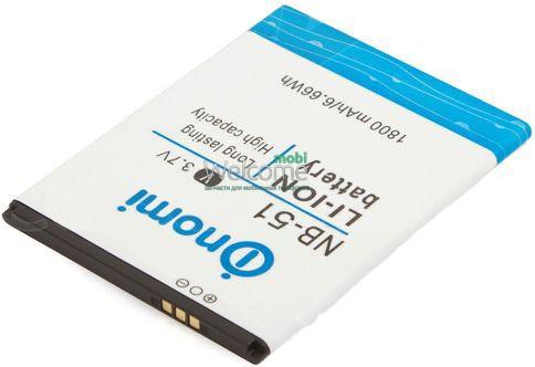 Аккумулятор Nomi NB-51 для Nomi i500 (1800 mAh) батарея для телефона с