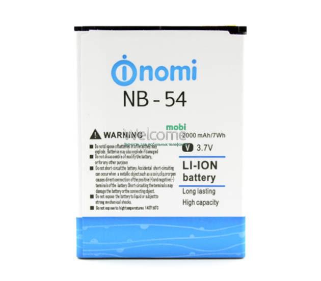 Аккумулятор Nomi NB-54 для Nomi i504 (2000 mAh) батарея для телефона с