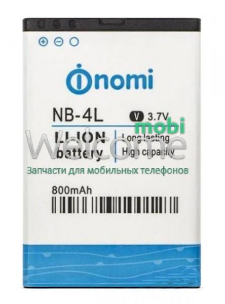 Аккумулятор Nomi NB-4L для Nomi i240 (800 mAh) батарея для телефона см