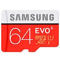 Карта памяти MicroSDXC 64Gb Class 10 Evo Plus (SD адаптер) Samsung (MB-MC64DA / RU)