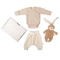 Набор одежды из органического хлопка с комфортером Wooly organic. Размеры: 56, 62, 68., фото 1
