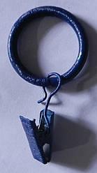 Кольцо без жабки д. 16 мм, гранат
