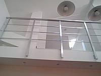 Перила из квадратного алюминиевого профиля, фото 1