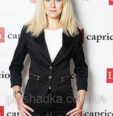 Женский пиджак темно-синий, рукав три четверти