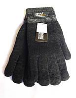 Мужские перчатки Корона Sport, вязка/махра, черные