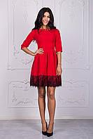 Красивое отрезное платья с пышной юбкой