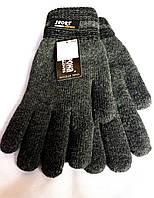 Мужские перчатки Корона Sport, вязка/махра, серые