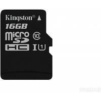 Карта памяти MicroSDHC 16Gb class 10 Kingston UHS-I (SDC10G2/16GBSP)