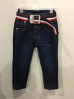 Детские джинсы на флисе для мальчика