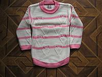 Детский теплый свитерок - полосочка  для девочек 1-3 года Турция