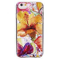 Накладка для iPhone 7 / 6s силикон i2 series Devia Оранжевые Цветы