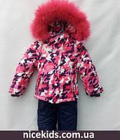 Детский зимний комбинезон для девочки 92р