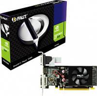Видеокарта GeForce GT610, Palit, 1Gb DDR3, 64-bit, VGA/DVI/HDMI, 810/1070MHz, Low Profile (NEAT6100HD06-1196F)