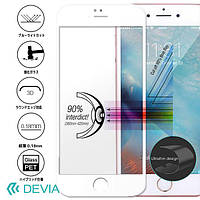 Защитное стекло Apple iPhone 7 Plus Jade 2 Anti-Blue ray Full Screen Tempered Glass (0.18mm) Devia Бели