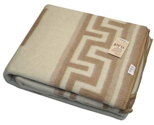 Жаккардовое шерстяное одеяло ТМ Vladi Греция 170х210