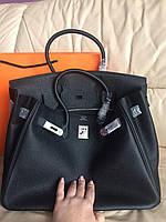 Елегантная женская сумка Hermes Birkin 35 см серебро