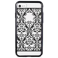 Накладка для iPhone 7 пластик Devia Crystal Baroque Черный
