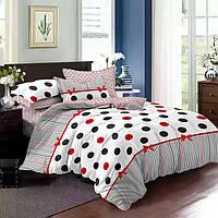 Двухспальный комплект постельного белья сатин люкс Горохи