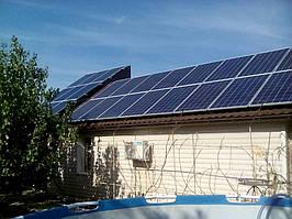 пгт. Васильевка Запорожская обл., домашняя сетевая солнечная электростанция 10 кВт Omron
