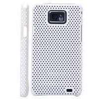 Накладка для Nokia E7 пластик-сетка белый (Белый)