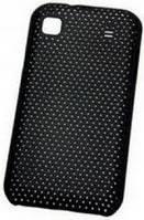 Накладка для Nokia X7 Пластик- сетка (черная)