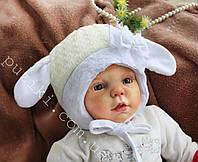 Вязаная детская зимняя шапка Sweet Sheep