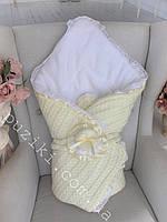 Зимний конверт-одеяло на выписку Зимняя сказка