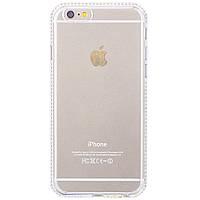 Накладка для iPhone 6 / 6S силикон TPU Fashion Case Swarovski Прозрачный