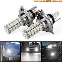 Авто-лампы H4 68 LED 6000K (лучше чем галогеновые, светодиодные лампы для авто)