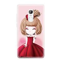 Накладка для iPhone 7 силикон 0,3mm Infinity Slim Glamour Девушка в красном платье