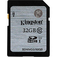 Карта памяти SDHC 32Gb class 10 Kingston C10 UHS-I R45MB / s (SD10VG2 / 32GB)