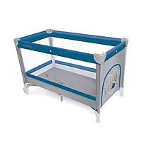 Детская кроватка-манеж Baby Design Simple 03 2016, синий манеж