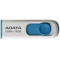 Флеш память 16GB USB2.0 ADATA 16GB USB 2.0 C008 White (AC008-16G-RWE)