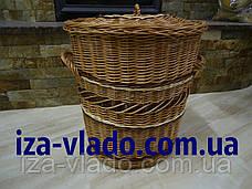 Корзина для белья,овальная, плетенная из лозы, фото 3