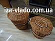Корзина для белья,овальная, плетенная из лозы, фото 4