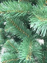 Елка искусственная европейская 150 см, иголки леска ПВХ Италия, трубчаты пушистый ствол, многоярусная, фото 2