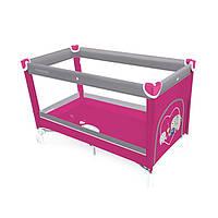 Детская кроватка-манеж Baby Design Simple 08 2016, розовый манеж