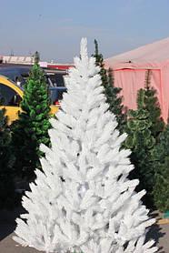 Ёлка литая белая 180 см иголки литая леска, кристально белая