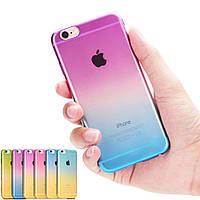 Накладка для iPhone 6 / 6s силикон Devia Color changing case Белый / Розовый (белый край)