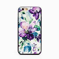 Накладка для iPhone 7 / 6s силикон i2 series Devia Фиолетовые Цветы
