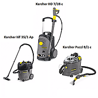 Комплект оборудование для автомойки Karcher HD 7/18 + Karcher NT 35/1 + Karcher Puzzi 8/1
