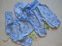 Теплые комплекты с начесом голубой 56см