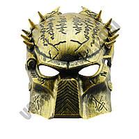 Маскарадная Маска Хишник золотая ( маска карнавальная )