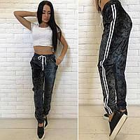 Бархатные спортивные штаны