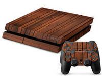 Скины для Sony Рlaystation 4 + 2 геймпада Дерево (Винил)
