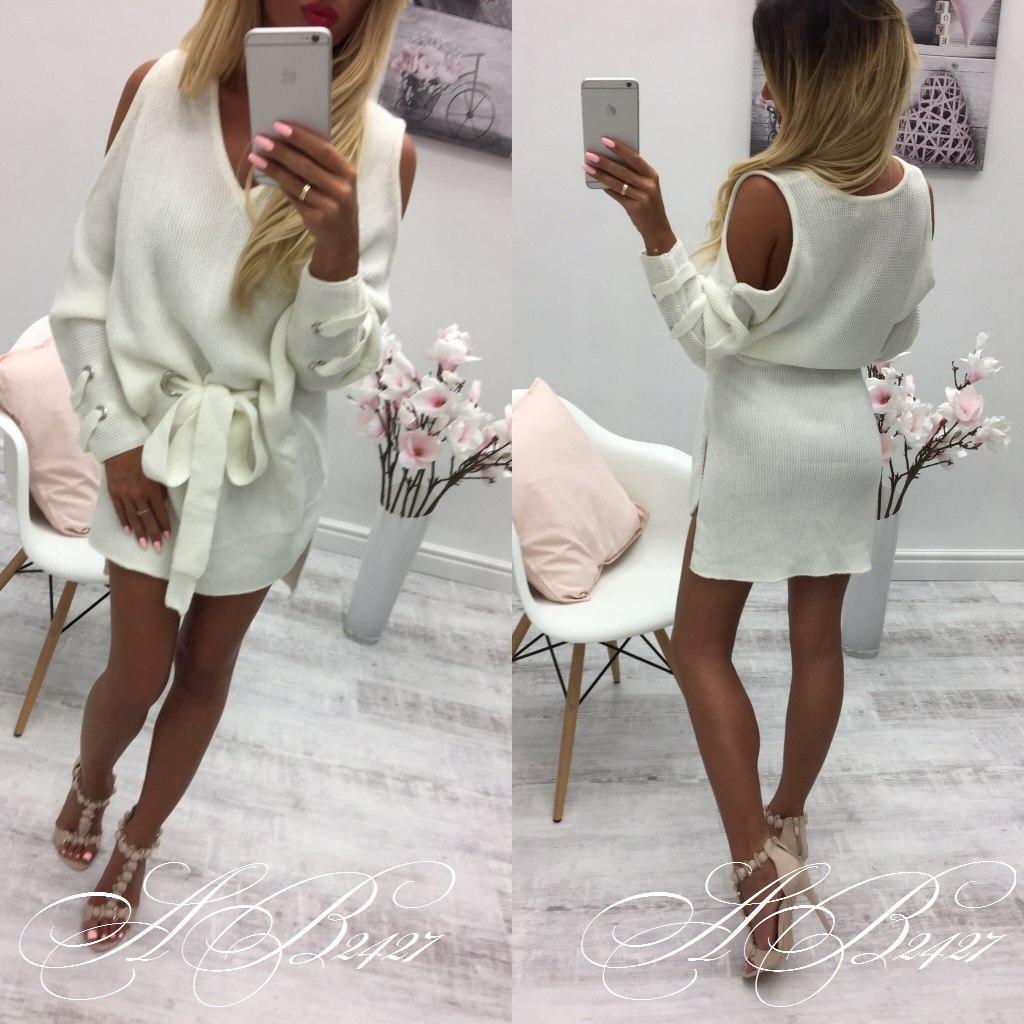 Белоснежное платье с кружевом из натуральных тканей