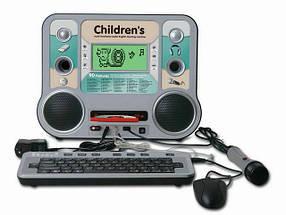 Детский компьютер 8855E/R русско-английский, с микрофоном