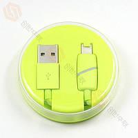 Кабель USB (папа) = iPhone 5/iPhone 6 Lightning USB Cable Шайба Green
